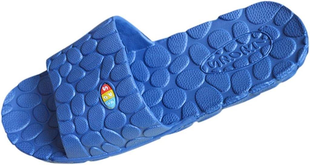 Toraway Summer Bathroom Slippers Couple Anti-Slip Massage Soft Bottom Home Slippers Casual Slippers