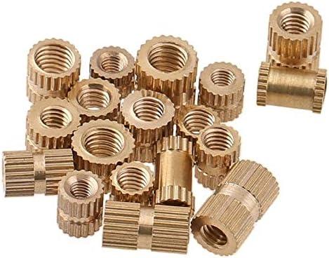 Size : M2.5 X D3.8 X L3 JWJY Injection-Molded Copper nut Copper Rolling Flower nut Copper Flower Mother M1.4M1.6M2M2.5M3M4 50PCS