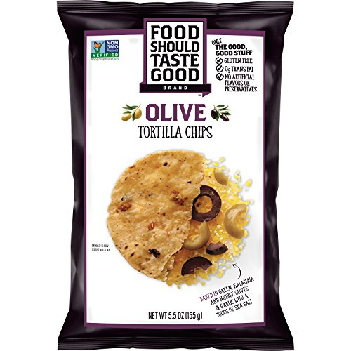 Food Should Taste Good, Tortilla Chips, Olive, Gluten Free Chips, 5.5 oz
