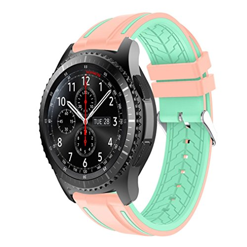 NewKelly Sports Silicone Bracelet Strap Band For Samsung Gear S3 Frontier - 25mm Jack Phones
