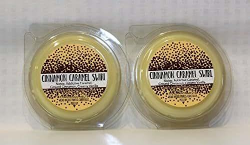 Bath & Body Works 2 Pack Cinnamon Caramel Swirl Fragrance Melt. 0.97 Oz / 27.5 g