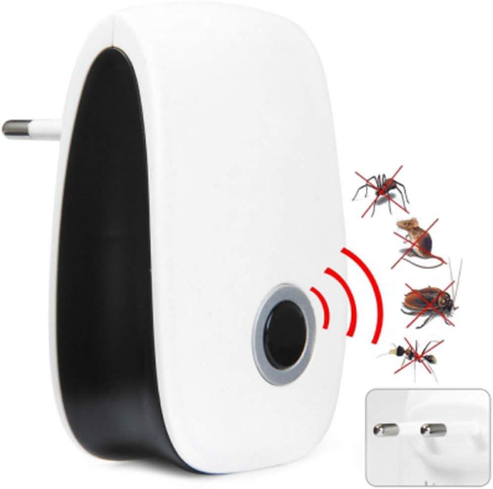 Repelente electr/ónico y ultrasonido Mosquitos ara/ñas Control de Insectos 6 Paquetes Hormigas Ratas GADINO Repelente ultras/ónico de plagas Enchufe Interior cucarachas Ratones