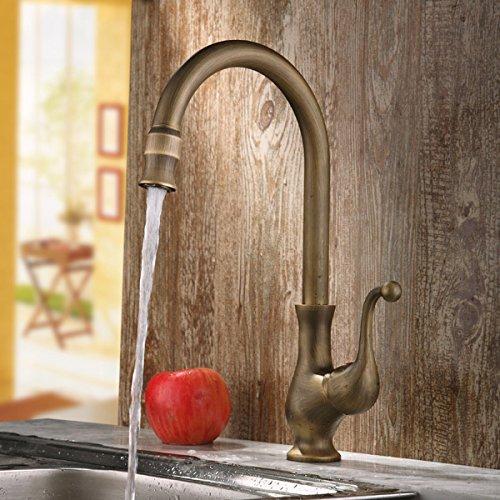 JiaYouJia Antique Brass Traditional Kitchen Faucet Antique Brass Kitchen Faucets