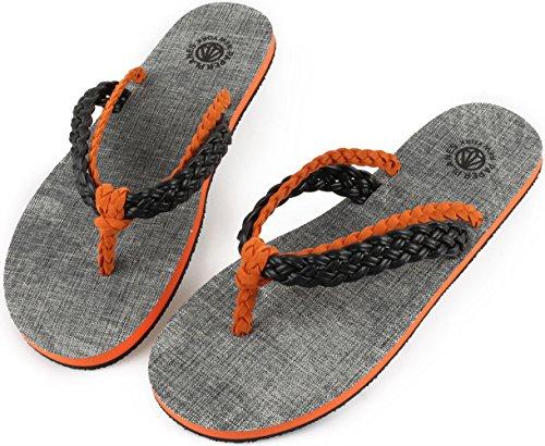 flop Noir 1154 1 Paperplanes Unisexe Mode Sandales Flip Tordues Simples 1154 Orange n6BqY