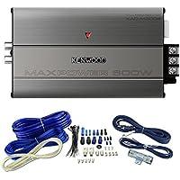 Kenwood KAC-M3004 4 Channel 600 Watt Amp Marine ATV Boat Amplifier + Wiring Kit