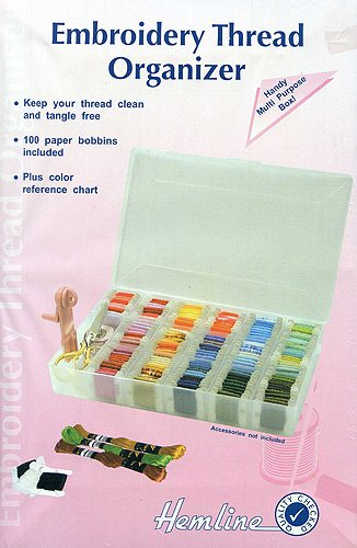 Hemline H3003.L | Plastic Large Embroidery Floss/Thread Box/Organiser