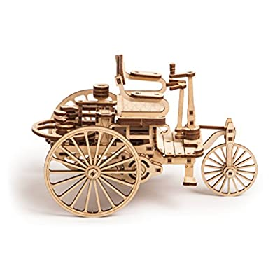 Wood Trick World's First Car Wooden Model Kit for Adults and Kids to Build - 3D Wooden Puzzle: Toys & Games