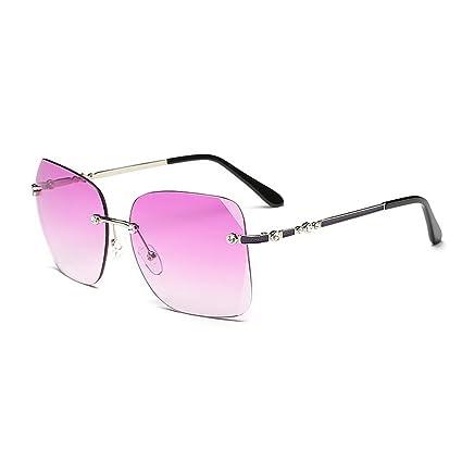 Sumferkyh - Gafas de Sol para Mujer, sin Marco, cuadradas ...