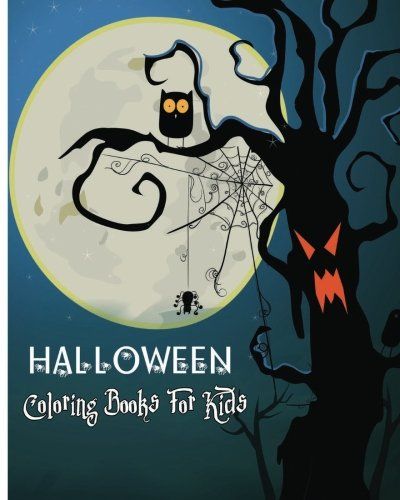 Halloween Coloring Books For Kids: 100 Pages -