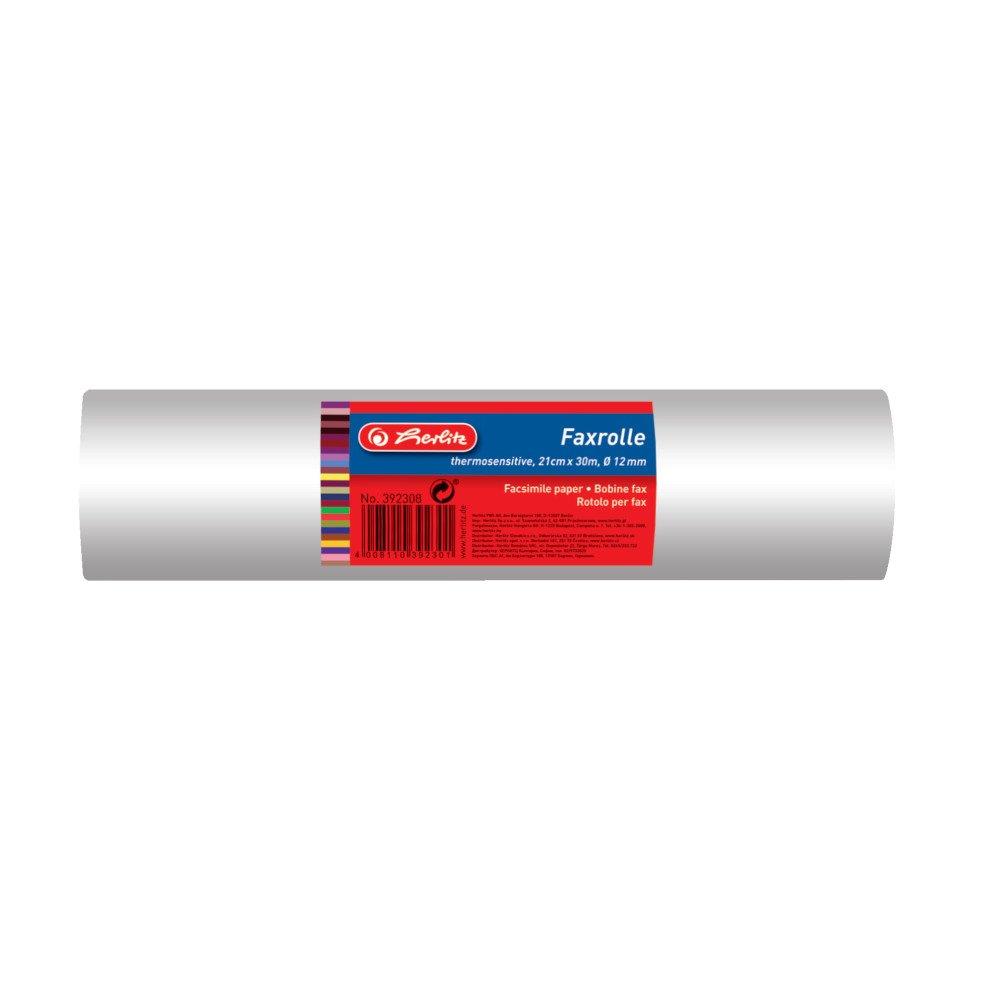 Herlitz 392308 Faxrolle 210 mm x 30 m x 1/2 Zoll, Folieneinschlag Pelikan