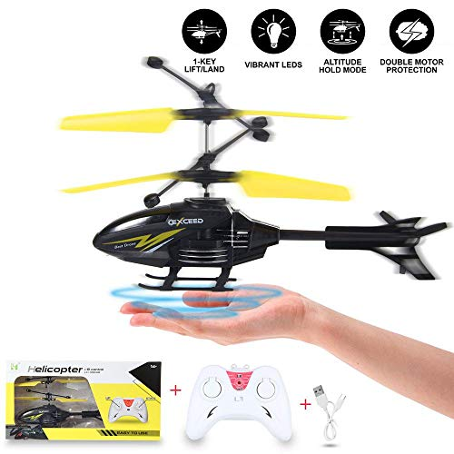 Tawcal Flying Helicopter Toy Kids, Remote Control Helicopters Induction RC Aircraft 3.5 Channel Flying Toys with LED Light for Boys Girls