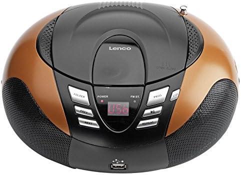 Lenco Radio Mit Cd Mp3 Player Scd 37 Tragbares Ukw Mw Radio Mit Usb Teleskopantenne Usb Orange Audio Hifi