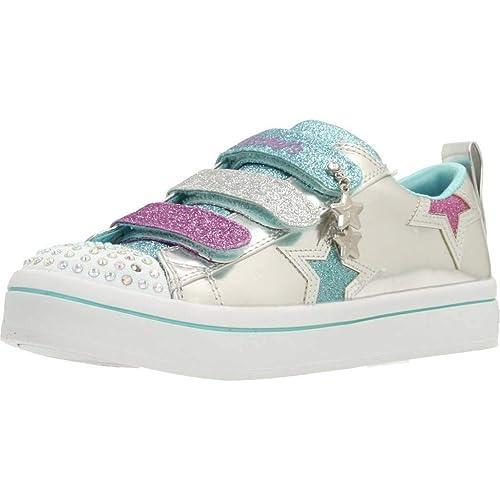 Zapatillas para niña, Color Plateado, Marca SKECHERS, Modelo