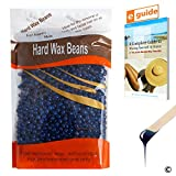 Plazuria Hair Removal Hard Wax Beans, Stripless Full-Body Depilatory Wax Beads(10oz) (Chamomile)