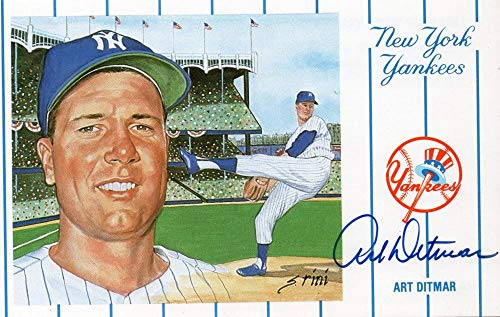 ART DITMAR NEW YORK YANKEES SIGNED 1991 ZASO POSTCARD W/COA from ALL STAR CARDS & COLLECTIBLES