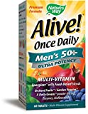 Cheap Nature's Way Alive Once Daily Men's 50 Plus Multi Ultra Potency Tablets, 60 Count