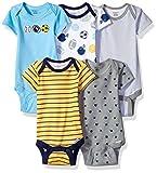 Gerber Baby Boys\ 5-Pack Variety Onesies Bodysuits, Multisport, 0-3 Months