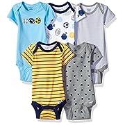 Gerber Baby Boys' 5 Pack Onesies, Multi-Sport, 0-3 Months