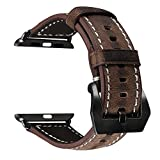 Band for Apple Watch, UMAXGET Genuine Leather Strap 38MM 42MM Apple Watch Accessories Retro Style for Apple Watch Nike/Series 1/2/Sport Edition