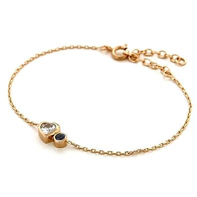 2258e2b40c Bijoux pour tous Bracelet - Plaqué Or - Oxyde de Zirconium - 19 cm - 4205068