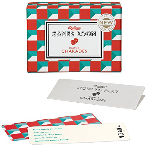(Ridley's Games Classic Charades Second Edition Quiz Card Guessing Game for Kids and Adults)