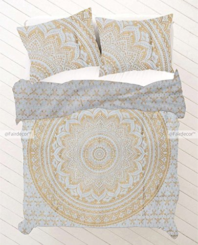 Mandala Duvet Cover, Indian Hand Made queen size Quilt Cover, by HANDICRAFTOFPINKCITY