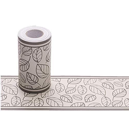 - Mullsan 10Meters Brown Leaf Peel and Stick Wallpaper Border Roll Waterproof PVC Wall Art for Kitchen Bath Room