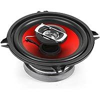 auna SBC-5121 - Haut-parleurs coaxiaux 2 Voies, Paire de Haut-parleurs intégrée, 1000 W Max. Puissance, Tweeter au néodyme, Bobine ASV, Charge SPL 80 DB, Fréquence: 90 Hz à 20 kHz, Noir-Rouge