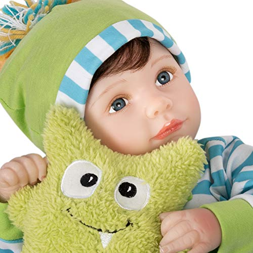 Paradise Galleries Reborn Toddler Boy - Cuddle Monster, Magnetic Mouth - 21 inch in SoftTouch Vinyl, 7-Piece Doll Gift Set