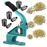 Ridgeyard Update Industrial Hand Press Grommet Machine with 3 Dies ( #0 #2 #4 ) and 900 Pcs Grommets Eyelet Tool Kit