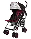 Lightweight Stroller, WonderBuggy Baby Stroller Extra Large Canopy with 5-Point Safety System and Multi-Positon Reclining Seat, Red Wine Review