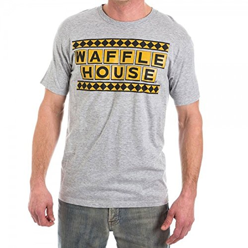 Official Waffle House Funny Vintage MENS T-SHIRT, Heather Grey, 2X-Large
