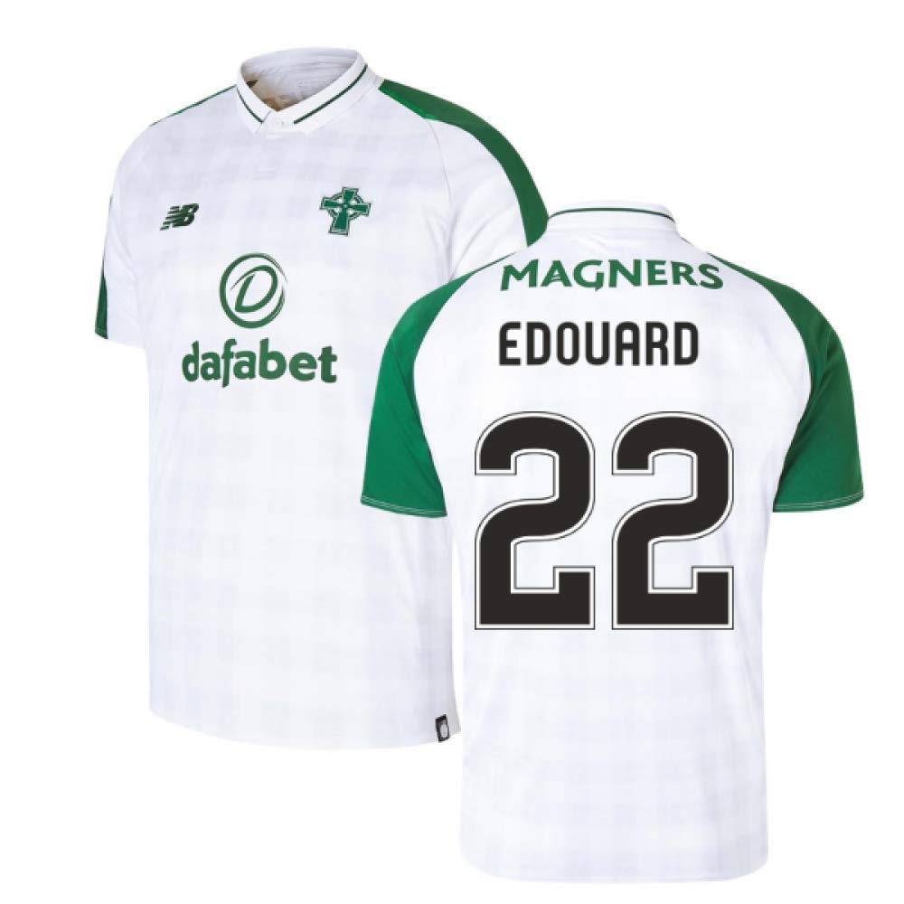 2018-2019 Celtic Away Football Soccer T-Shirt Trikot (Odsonne Edouard 22)