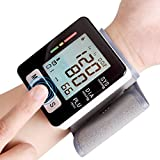YDP-SPORT Automatic LCD Digital Wrist Monitor with Heart Rate with Case, Two User Modes, sphygmomanometer Digital Blood Pressure Monitor IHB Indicator
