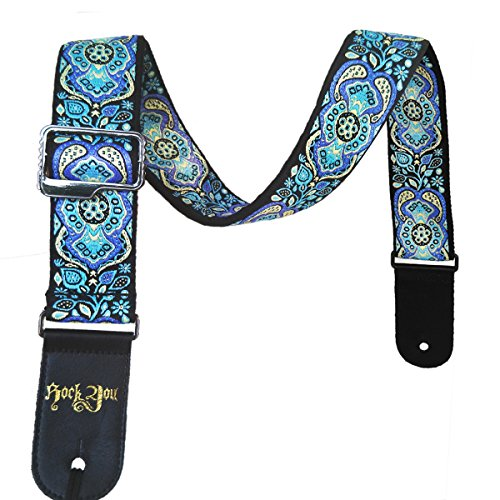 Dr.Music Woven Guitar Strap for Acoustic and Electric Bass G