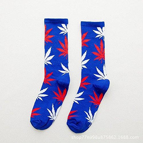 Maple Leaf calcetines de algodón de hombres tubo Skate tubo largo de cáñamo calcetines calcetines deportivos