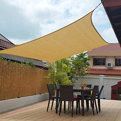 Artpuch 10' x 13' Shade Sails 185GSM Rectangle Shade Sail UV Block for Patio Garden Outdoor Facility
