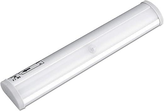 SOLMORE 3pcs Lampe Détecteur de Mouvement à Pile Veilleuse LED Lampe Automatique Lumière Éclairage pour Cabinet Toilette Escalier Couloir Entrée