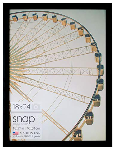 Snap 18 by 24 Inch Black Photo Picture Frame, 18x24, (Frame Photo 18x24)