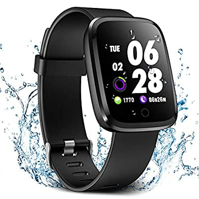 Verpro Smart Watch, Waterproof Fitness Activity Tracker with Heart Rate Monitor, Wearable Oxygen Blood Pressure Wrist Watch, Bluetooth Running GPS Tracker Sport Band