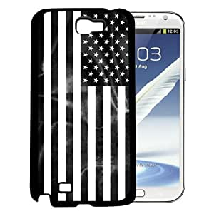 USA Flag Black And White Hard Snap On cell Phone Case Cover Samsung Galaxy Note II 2 N7100