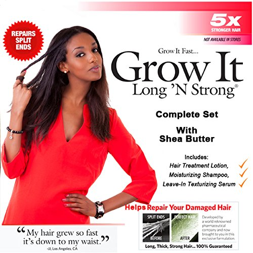 Long 'N Strong Complete Treatment Set with Shea Butter fo...