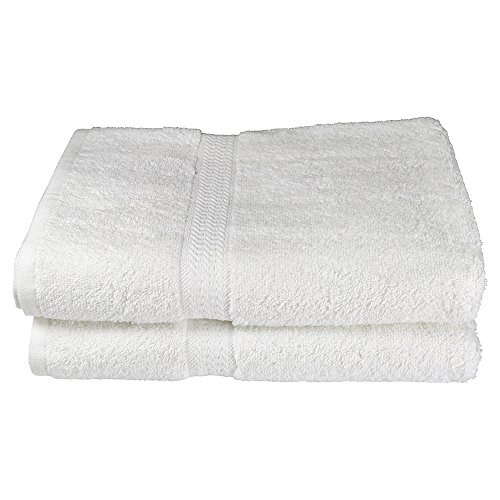 RC ROYAL CREST Resort Collection by Sigmatex – Lanier Textiles BT275014R 100% Cotton Hotel and Spa Quality Towel White 2 Pack (Bath Towel 27 x (Royal Hotel Resort)