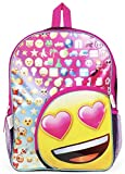 Kids Emoji Emoticon Characters 16 Inch Girls Backpack