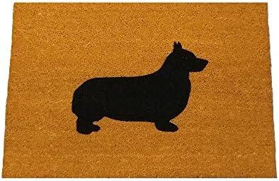 Corgi Silhouette Doormat 18 x30