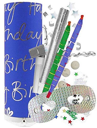 AmerTraders Festa di Compleanno generica - Blu - 26cm - Non possiamo spedire Questo Prodotto Fuori dal Regno Unito.