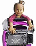 Universal Baby Stroller Organizer Bottle Cloth Diapers Holder Hanging Storage Bag (Grey)