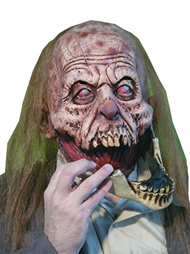 Slack Jaw Creepy Gory Zombie Horror Monster Latex Adult Halloween Costume Mask