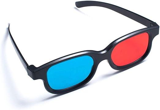 SODIAL(R) Rojo-Azul / Gafas 3D Estilo de Cian Anaglifo para 3D Pelicula TV: Amazon.es: Hogar