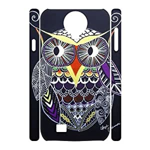 Owl Design Unique Customized 3D Hard Case Cover for SamSung Galaxy S4 I9500, Owl Galaxy S4 I9500 3D Cover Case